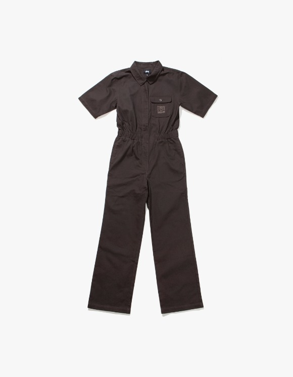 Stussy One Piece Work Suit - Black | HEIGHTS. | International Store