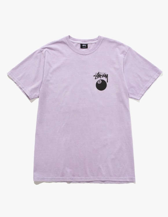 Stussy 8 Ball Pig. Dyed Tee- Lavender | HEIGHTS. | International Store