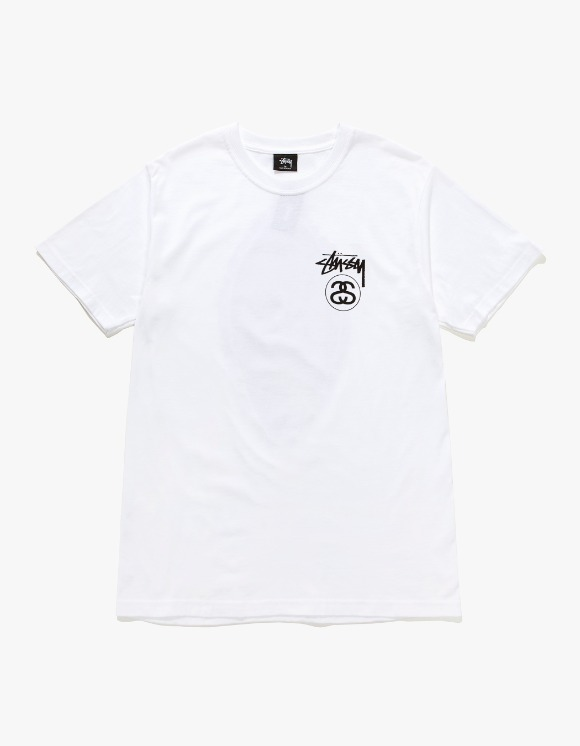 Stussy Stock Link Tee - White | HEIGHTS. | International Store