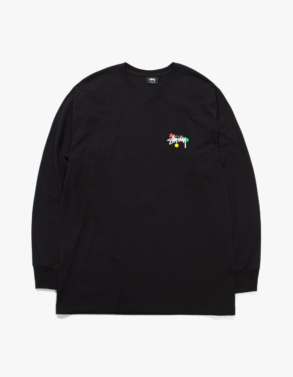 Stussy Dot Collage L/S Tee - Black | HEIGHTS. | International Store