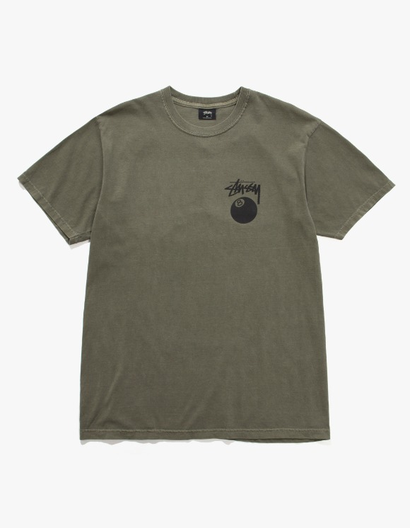 Stussy 8 Ball Pig. Dyed Tee - Olive | HEIGHTS. | International Store
