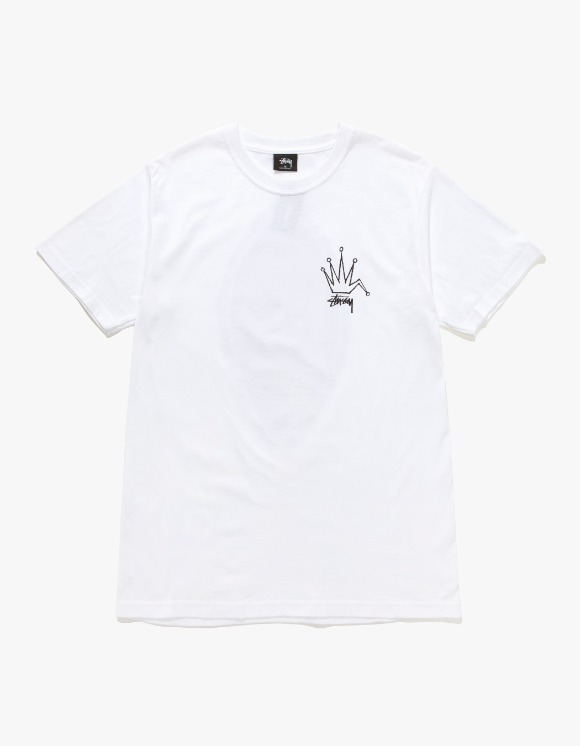 Stussy Old Crown Tee - White | HEIGHTS. | International Store