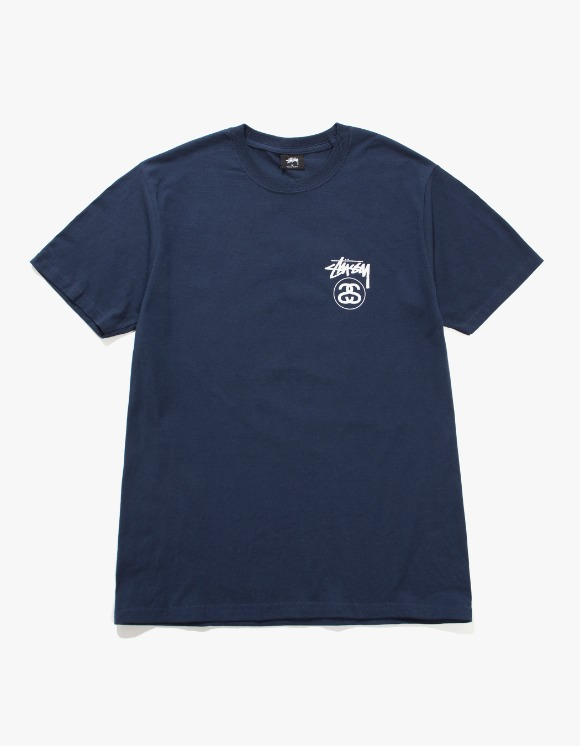 Stussy Stock Link Tee - Navy | HEIGHTS. | International Store