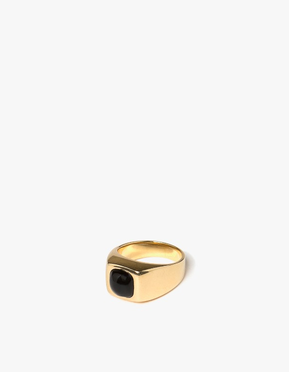 MARLIN Gold & Stone Onyx Signet Ring | HEIGHTS. | International Store