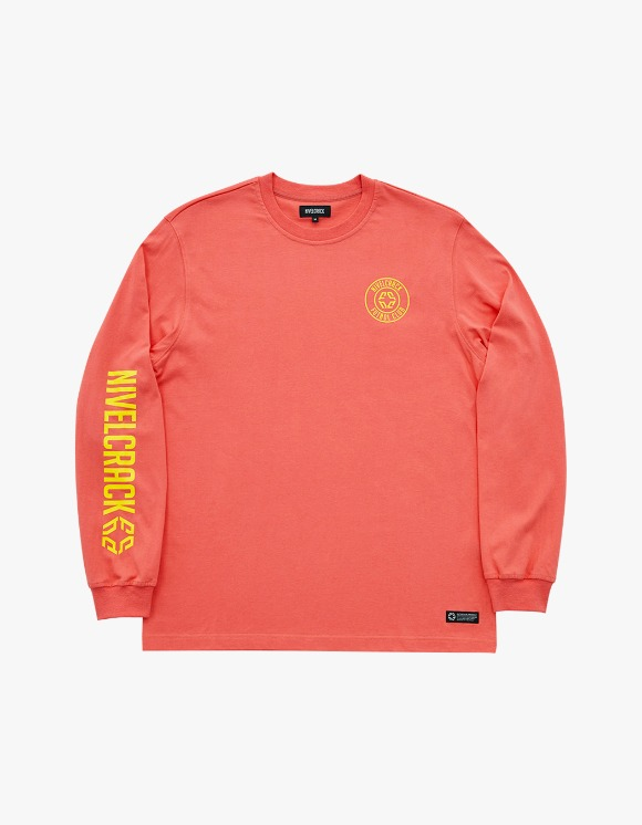 NIVELCRACK Club L/S Tee - Coral | HEIGHTS. | International Store