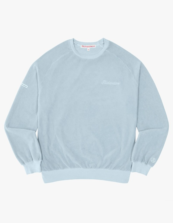Richardson Velour Drop Shoulder Crewneck - Blue | HEIGHTS. | International Store