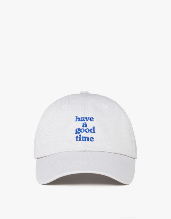 have a good time Embroidered Logo 6 Panel Cap - Silver Gray | HEIGHTS. | International Store