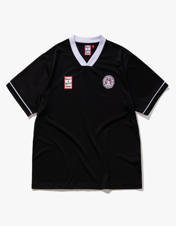 have a good time HAGT Soccer S/S Jersey - Black | HEIGHTS. | International Store