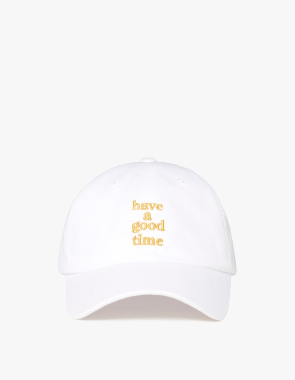 have a good time Embroidered Logo 6 Panel Cap - White | HEIGHTS. | International Store