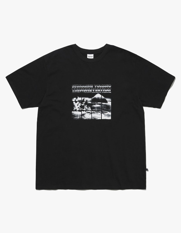 thisisneverthat Submarine Volcano Tee - Black | HEIGHTS. | International Store