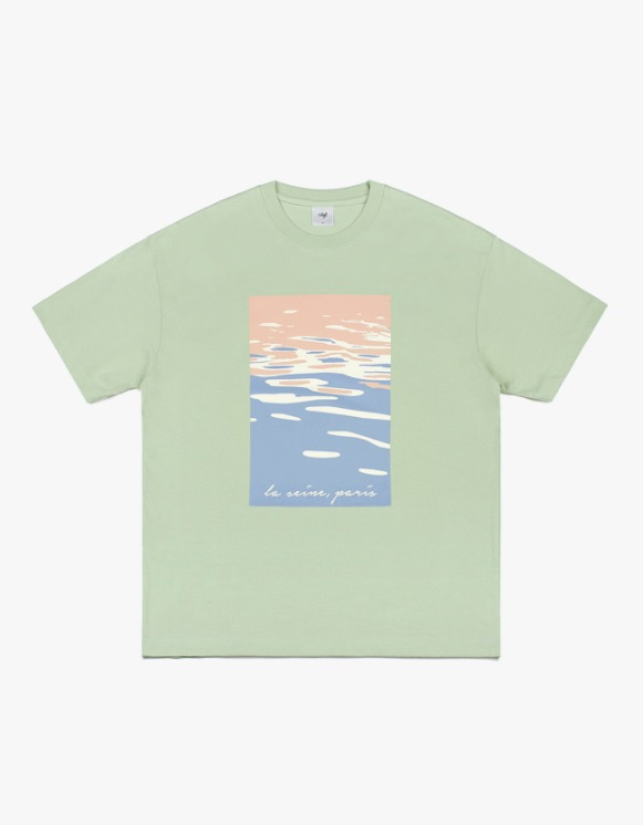 CLIF Seine Painting S/S Tee - Mint | HEIGHTS. | International Store