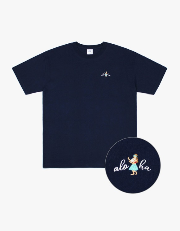 CLIF Hula Girl S/S Tee - Navy | HEIGHTS. | International Store