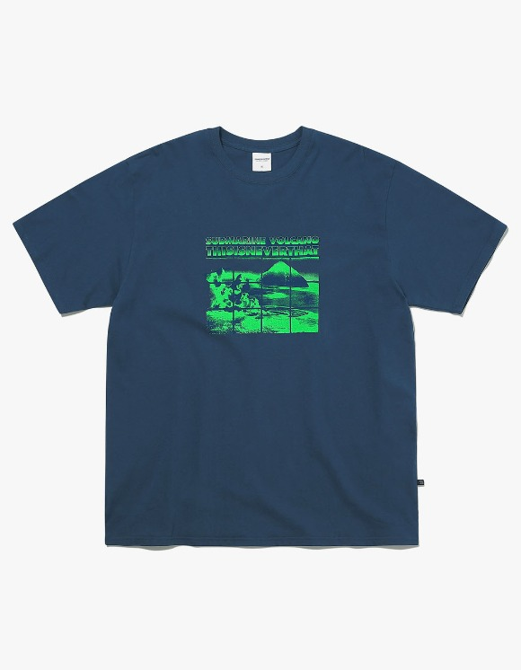 thisisneverthat Submarine Volcano Tee - Light Navy | HEIGHTS. | International Store