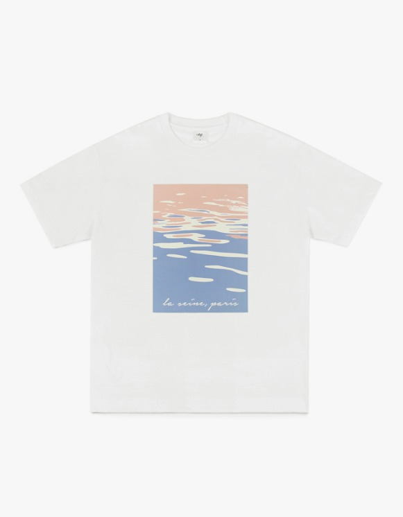CLIF Seine Painting S/S Tee - White | HEIGHTS. | International Store