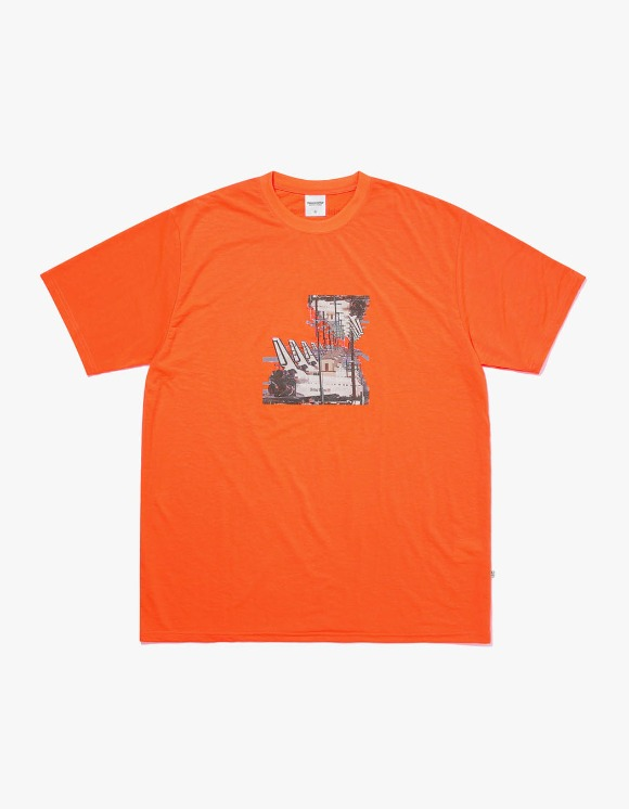 thisisneverthat Spaceship Tee - Neon Orange | HEIGHTS. | International Store