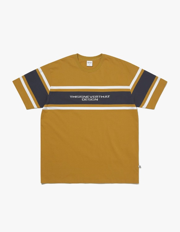 thisisneverthat 3Line Striped Tee - Mustard | HEIGHTS. | International Store