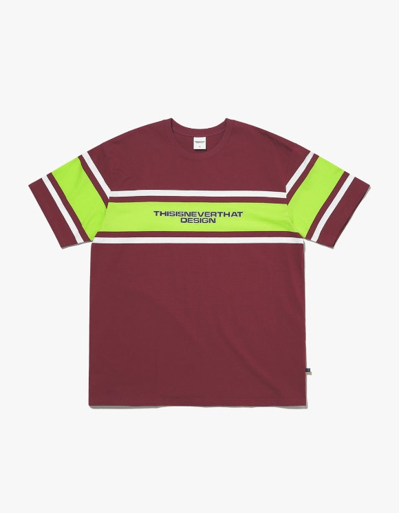 thisisneverthat 3Line Striped Tee - Burgundy | HEIGHTS. | International Store