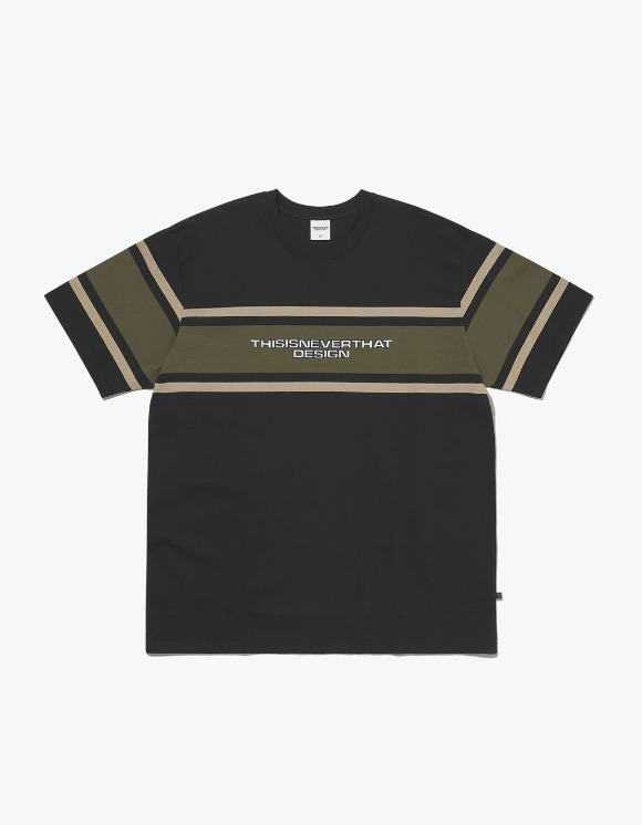 thisisneverthat 3Line Striped Tee - Black | HEIGHTS. | International Store