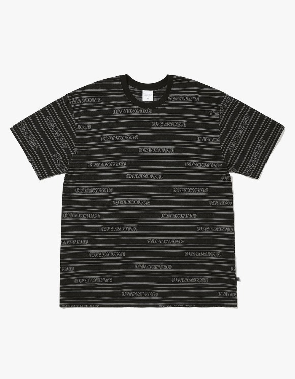 thisisneverthat Logo Jacquard Tee - Black | HEIGHTS. | International Store