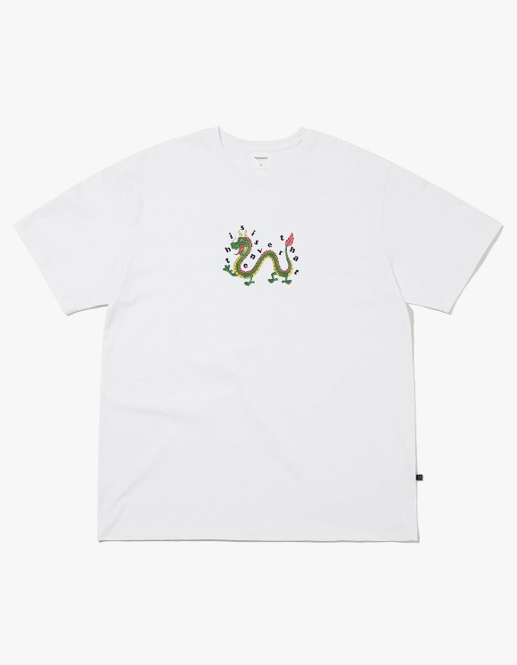thisisneverthat Dragon Tee - White | HEIGHTS. | International Store