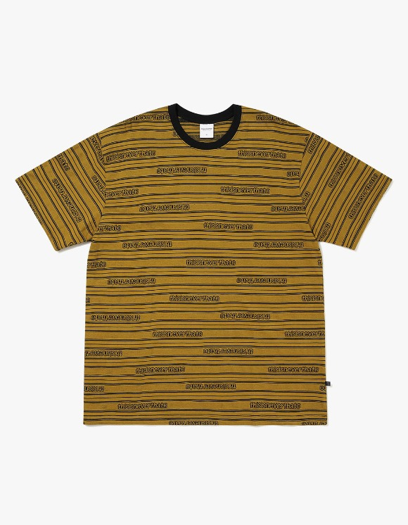 thisisneverthat Logo Jacquard Tee - Murstard | HEIGHTS. | International Store
