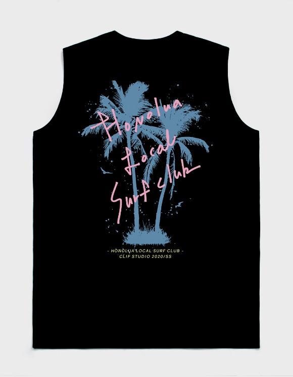 CLIF Surf Club Sleeveless Tee - Black | HEIGHTS. | International Store
