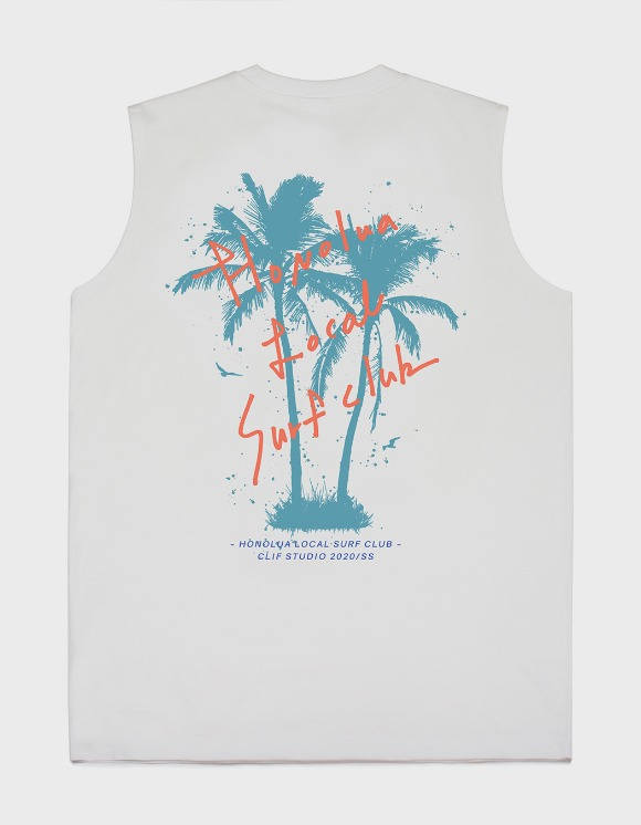 CLIF Surf Club Sleeveless Tee - White | HEIGHTS. | International Store